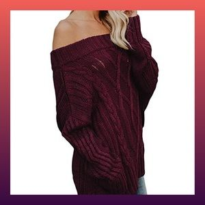 Sweaters - ❗️NEW❗️Off The Shoulder Cable Knit Sweater